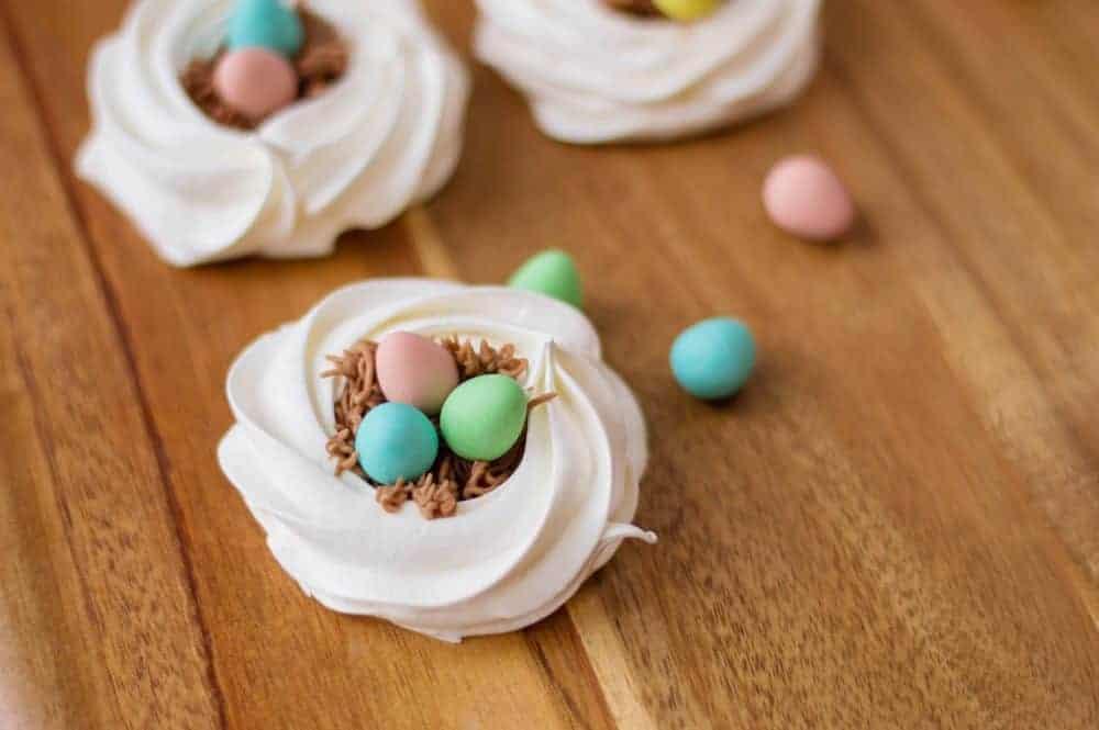Easy Bird Nest Meringue Cookies