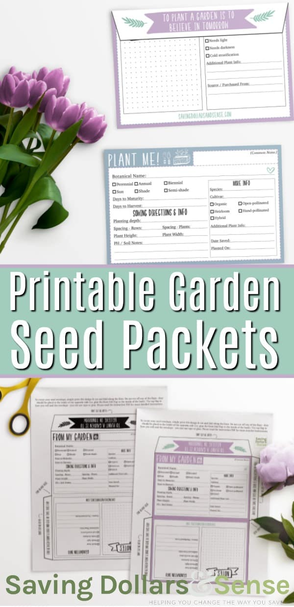 Free Garden Seed Packets