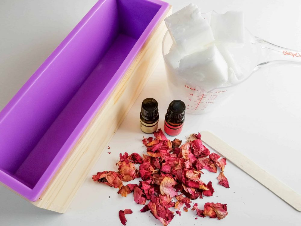 Essential oils and instructions for making Botanical Goat Milk Handmade Soap