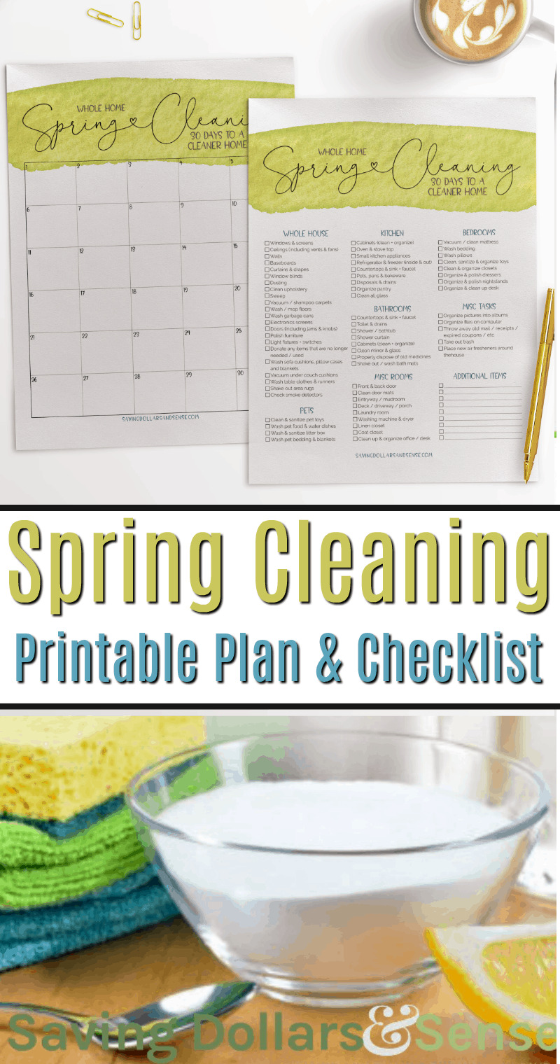 Printable House Cleaning Plan for Spring Cleaning