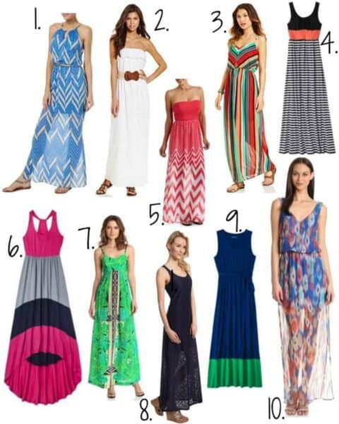 women wearing maxi dresses