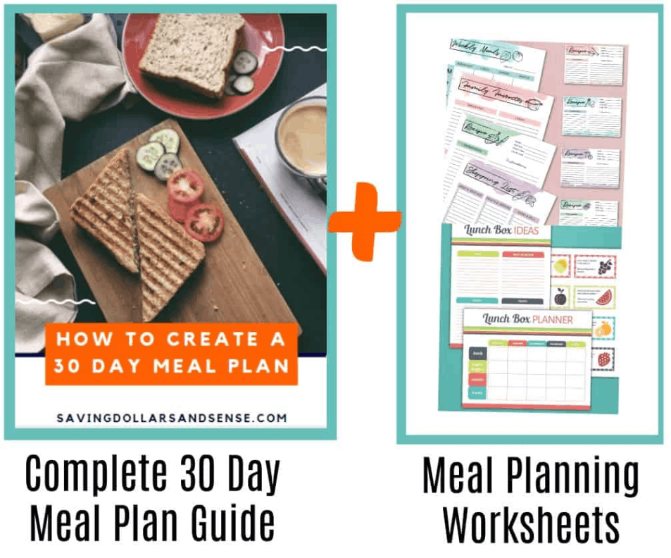 How to create a 30 day meal plan guide and worksheets.