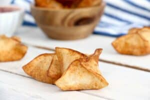 fried HOMEMADE crab rangoons