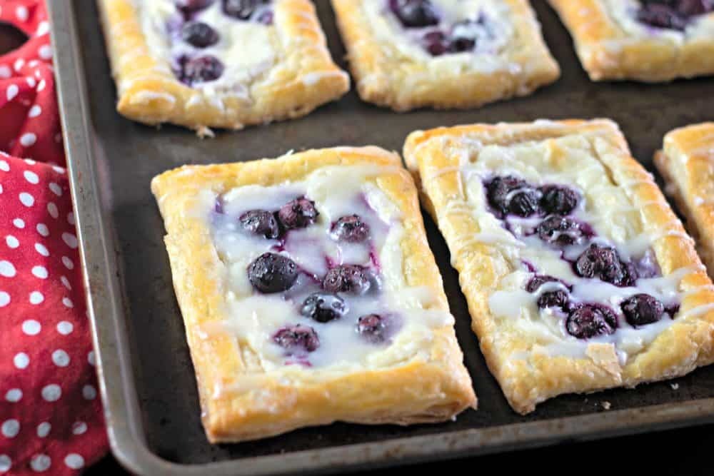 Lemon Blueberry Cream Cheese Danish