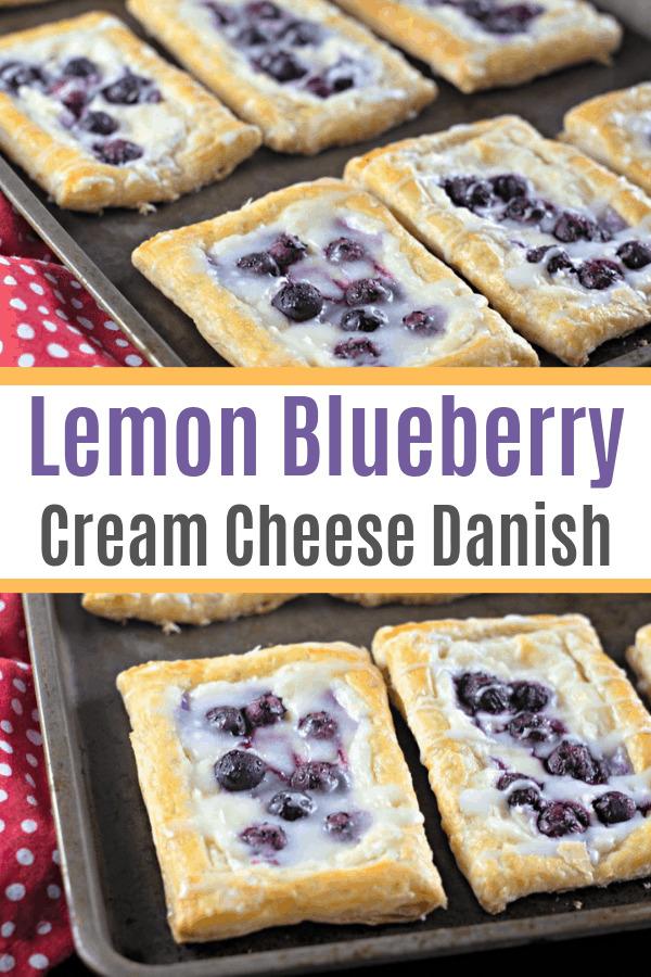 lemon blueberry cream cheese danish recipe