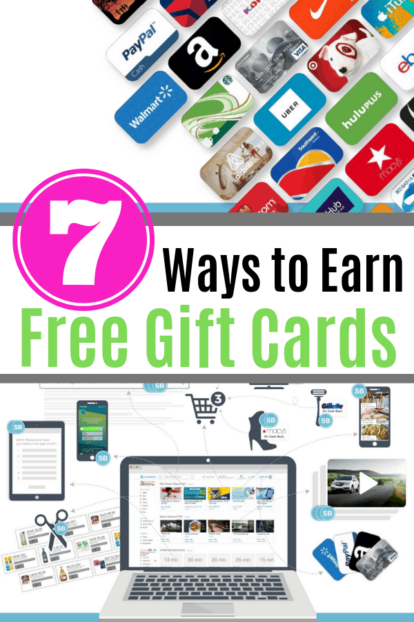 Ways to earn free gift cards, including using Swagbucks.