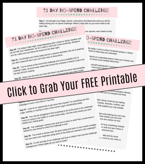Grab your free printable for this no-spend challenge.
