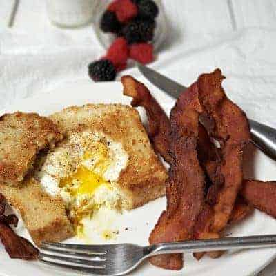 crispy bacon goes great with toad in a hole breakfast