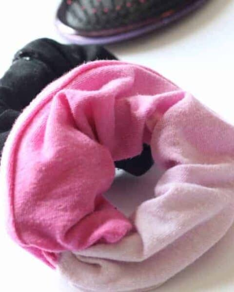 How to Make Scrunchies No Sew Instructions Using Recycled T-Shirts
