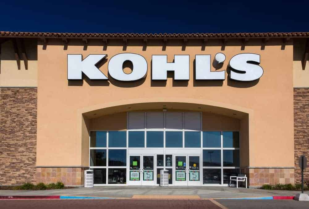 Kohl\'s department store exterior. Kohl\'s Corporation is an American department store retail chain.