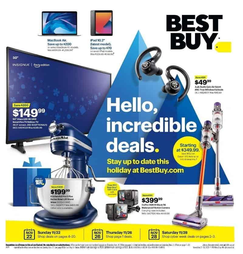 Best Buy Black Friday sale ad.