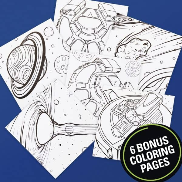 Bonus coloring pages included with the limited edition sharpies set.