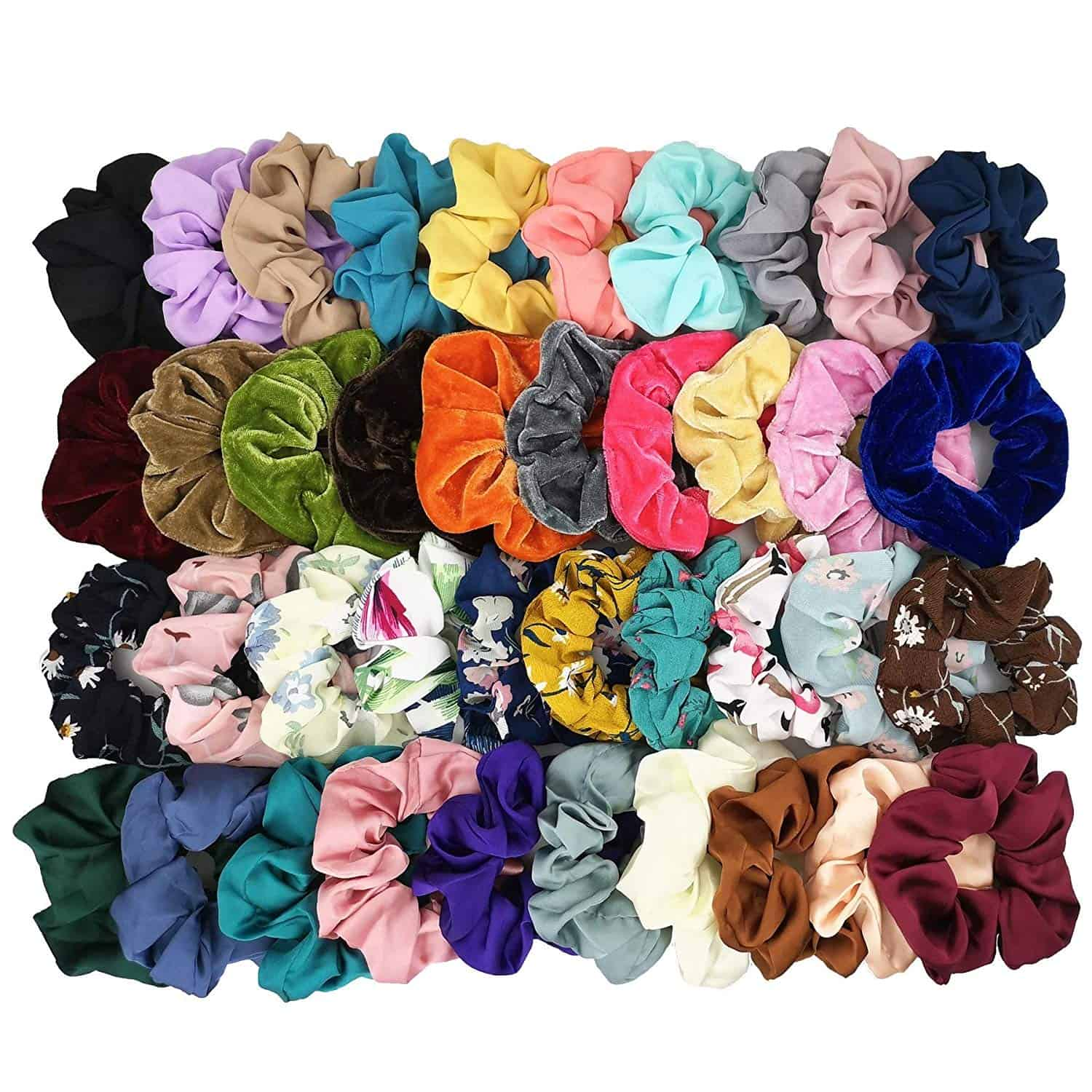 A group of scrunchies.