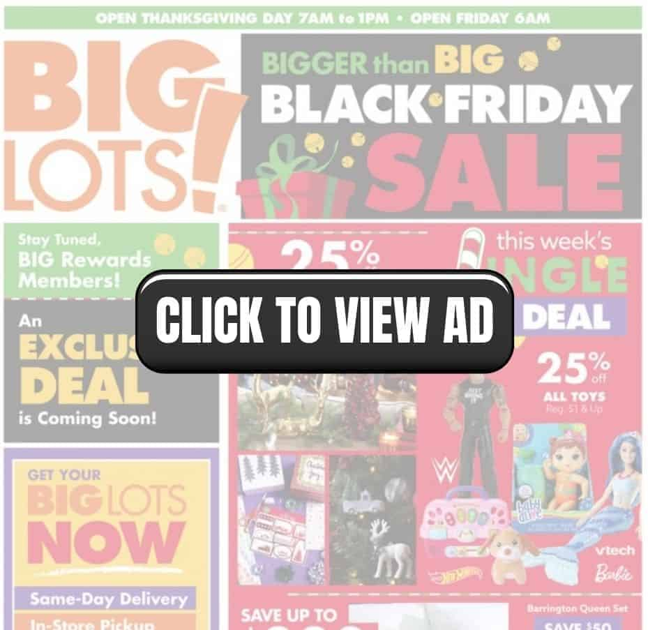 Big Lots Black Friday sale ad scan to save big this year.