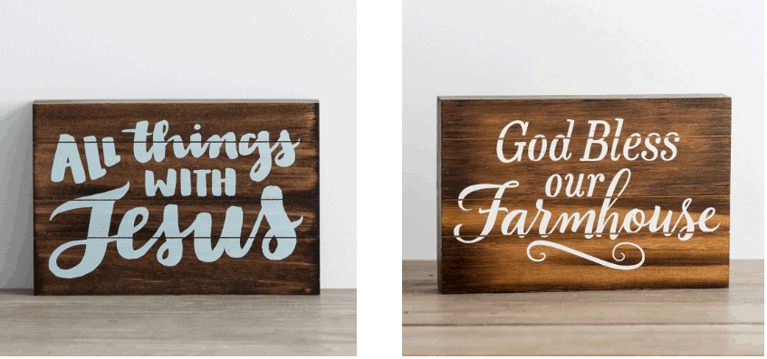 Farmhouse sign from Dayspring Black Friday Sale.