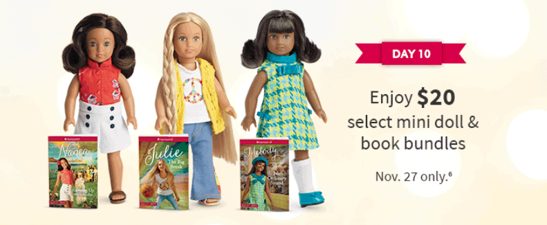 American girl mini doll sets.