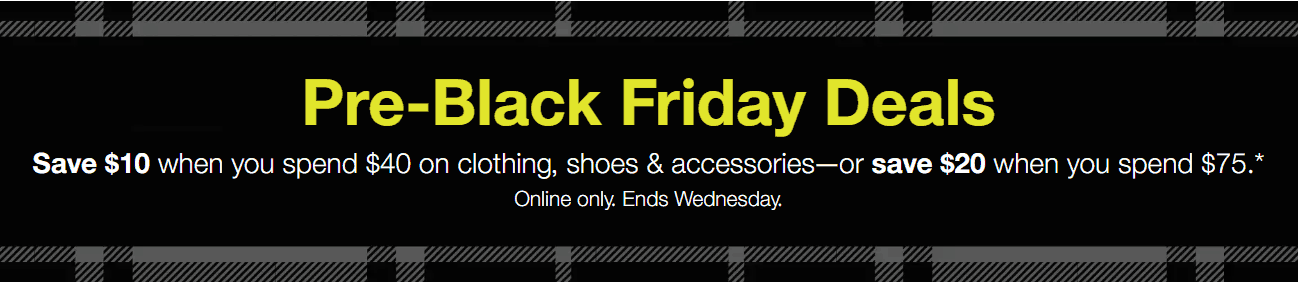 Black Friday Target sales on shoes and accessories.