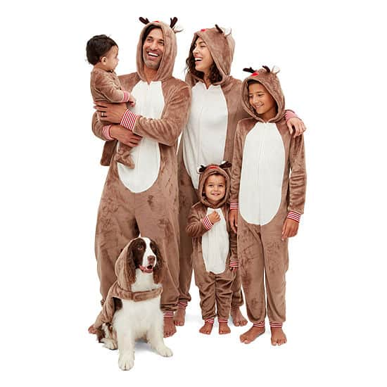 Reindeer Matching Christmas Pajamas Sale for families