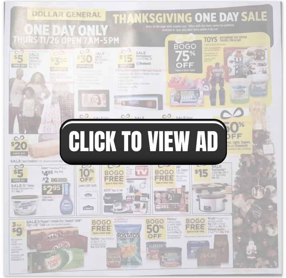 Dollar General Black Friday Sales ad
