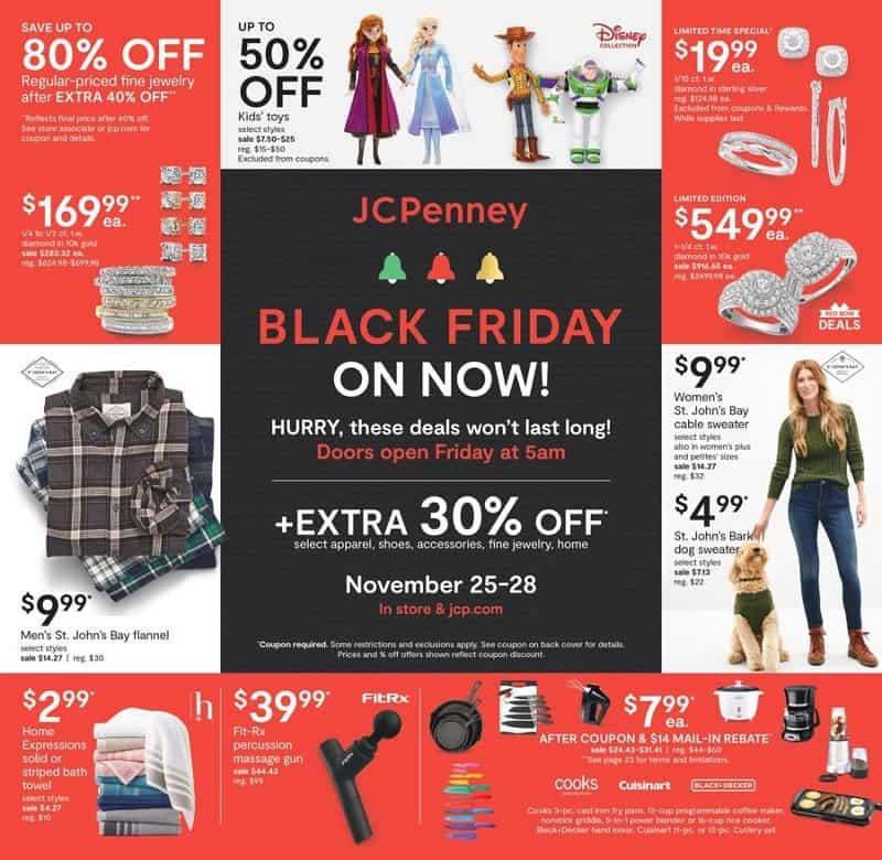 JC Penny Black Friday ad