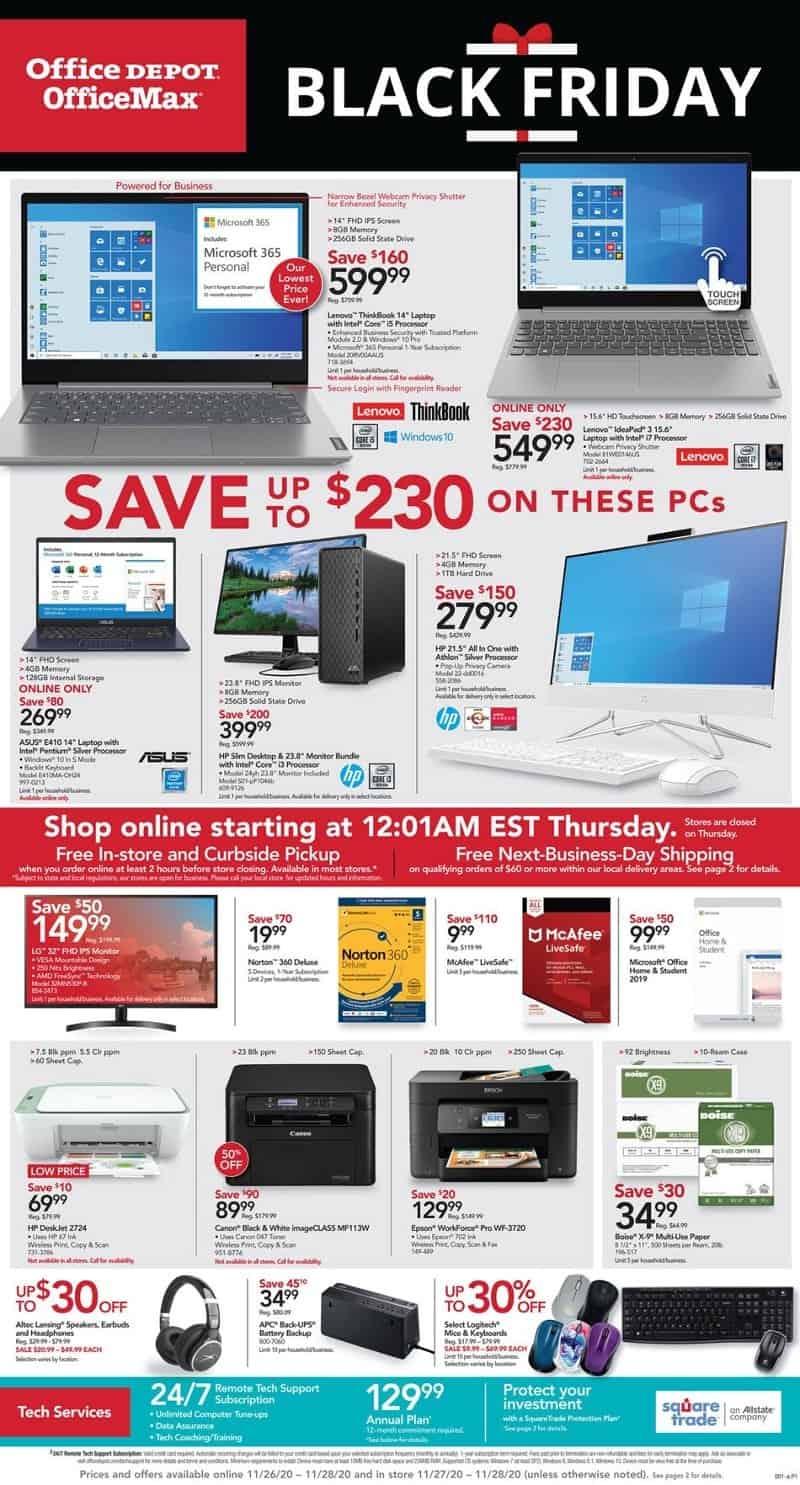 Office Depot & Office Max Black Friday Sales