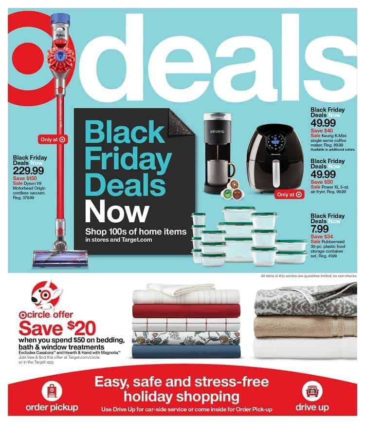 Target black friday deals sales ad.