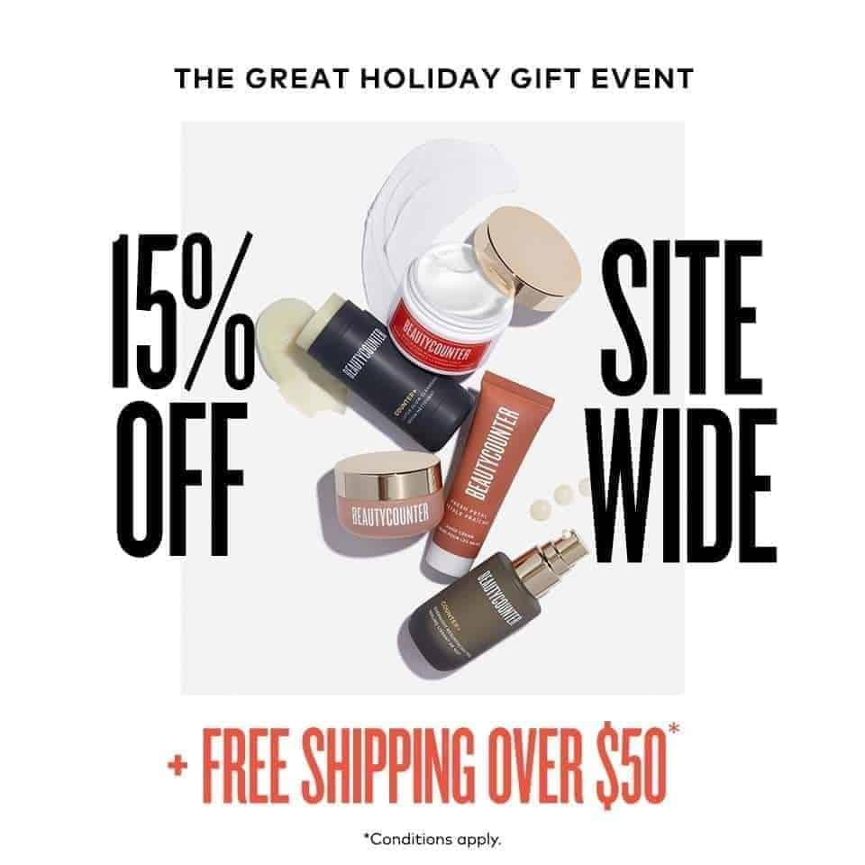 Beautycounter black friday and cyber monday sales.