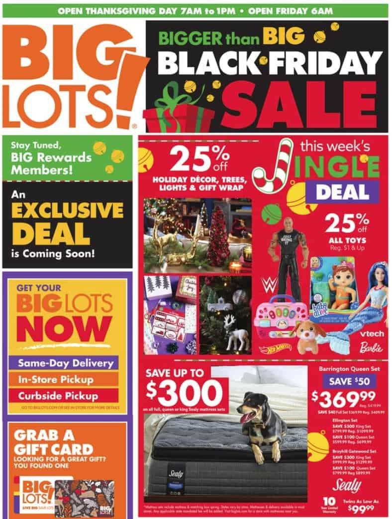 Big Lots Black Friday sale ad.