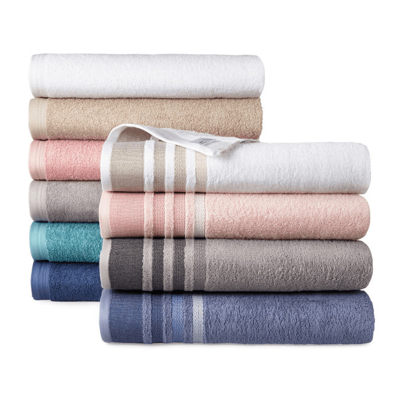 The variety of colors from Home Expressions bath towel sets available during Black Friday sales.