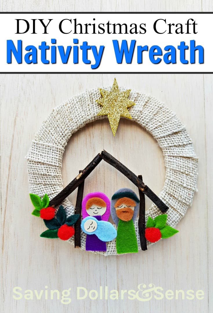Nativity Scene Wreath Craft