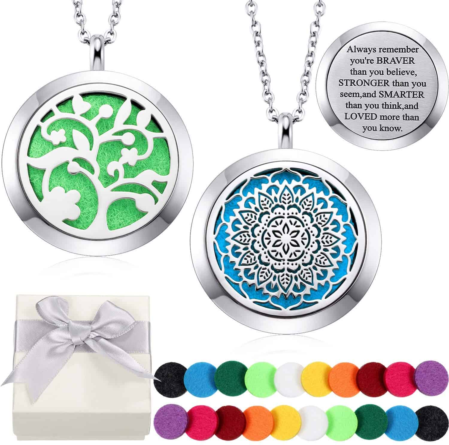 Essential oil diffuser necklace.