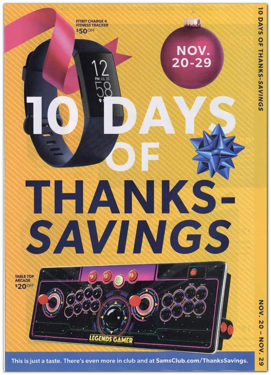 10 days of thanksgiving black friday ad sale.