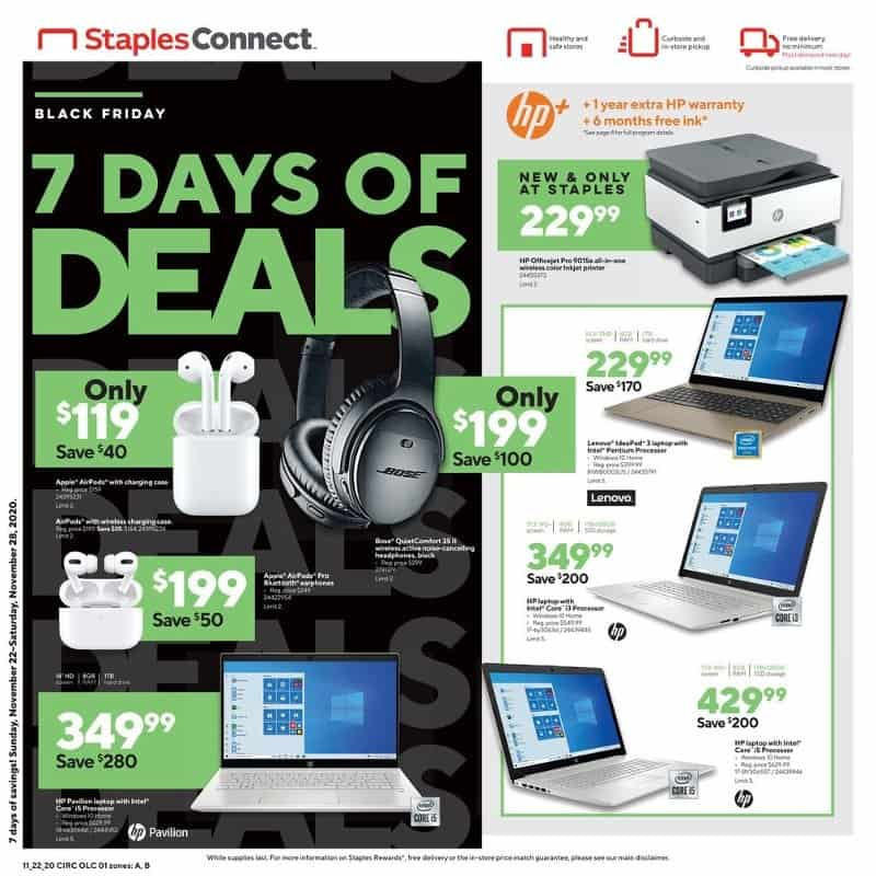 staples black friday ad scan