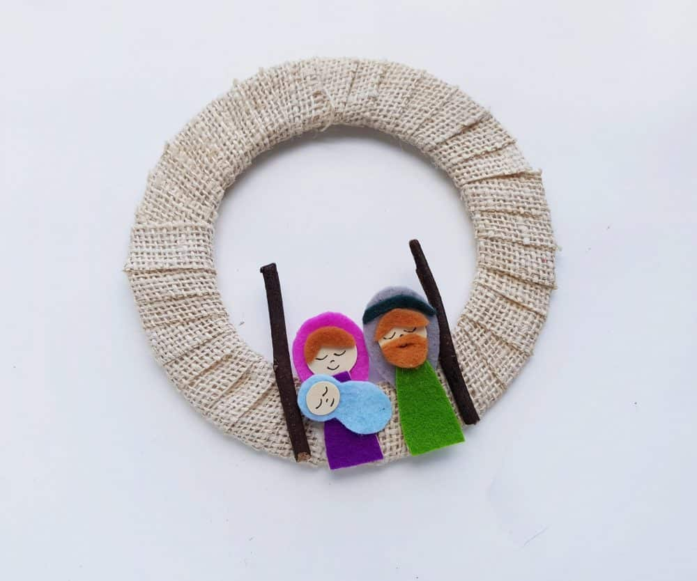 DIY Christmas Story wreath