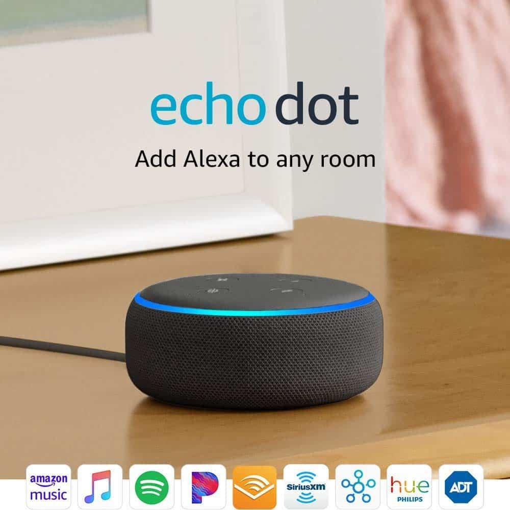 Echo Dot with Amazon\'s Alexa.