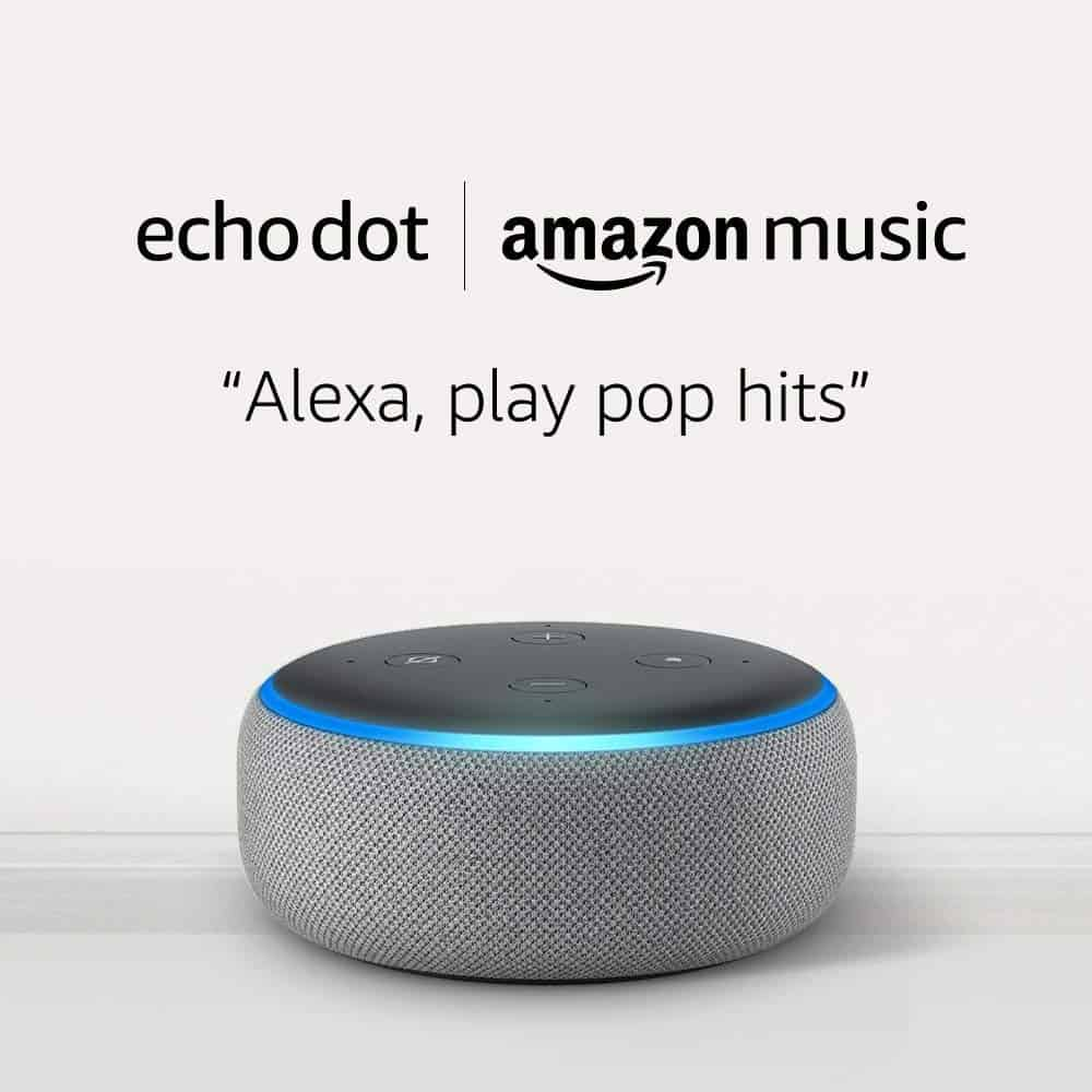 Amazon echo dot to play music.