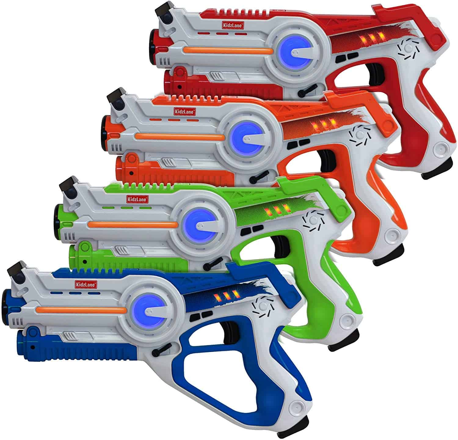 Toy guns available in a variety of colors.