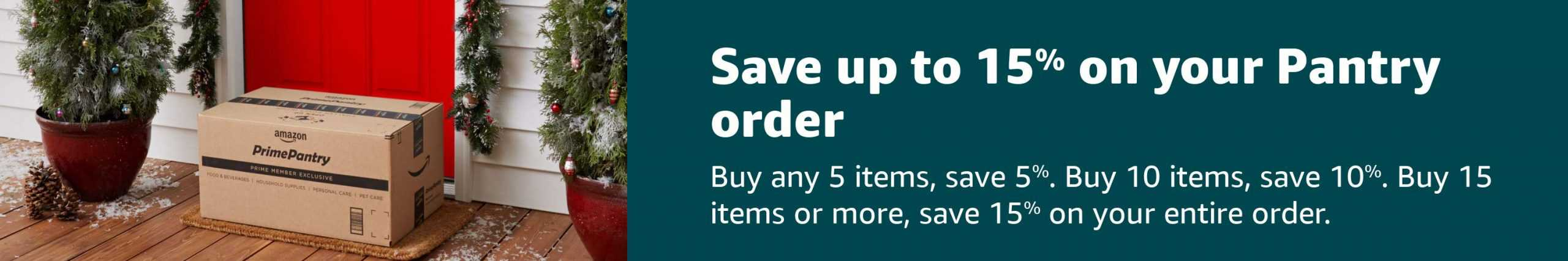 Buy more and save more on your Amazon order.