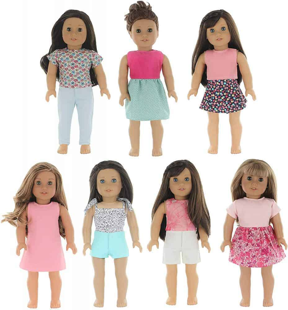 Cute outfits that fit these American Girl dolls on sale.
