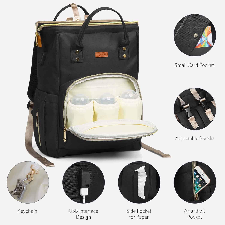 Backpack diaper bag.