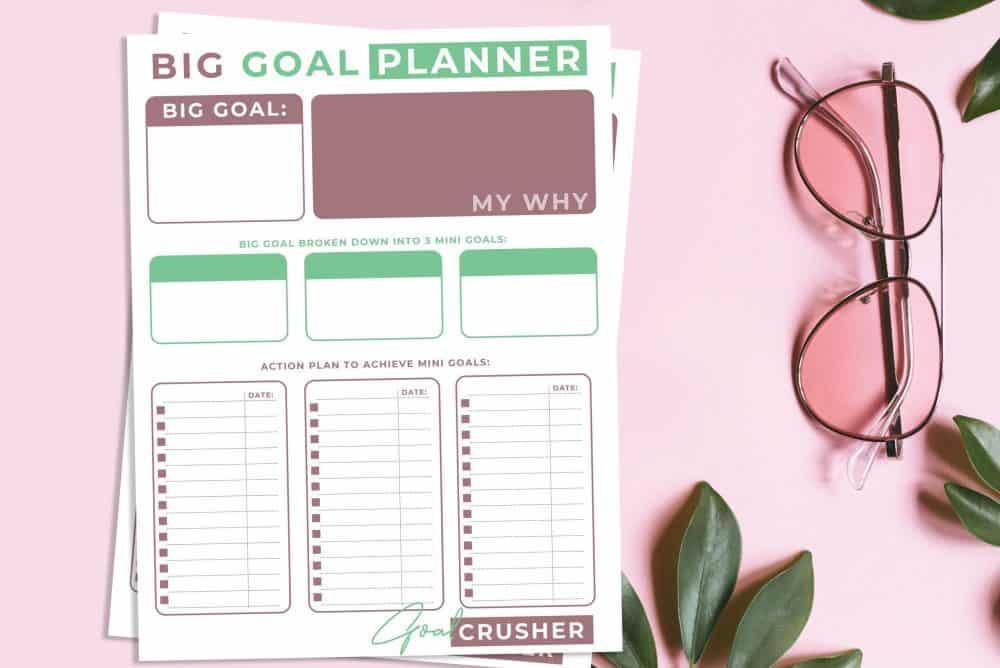 Goal planning worksheet.
