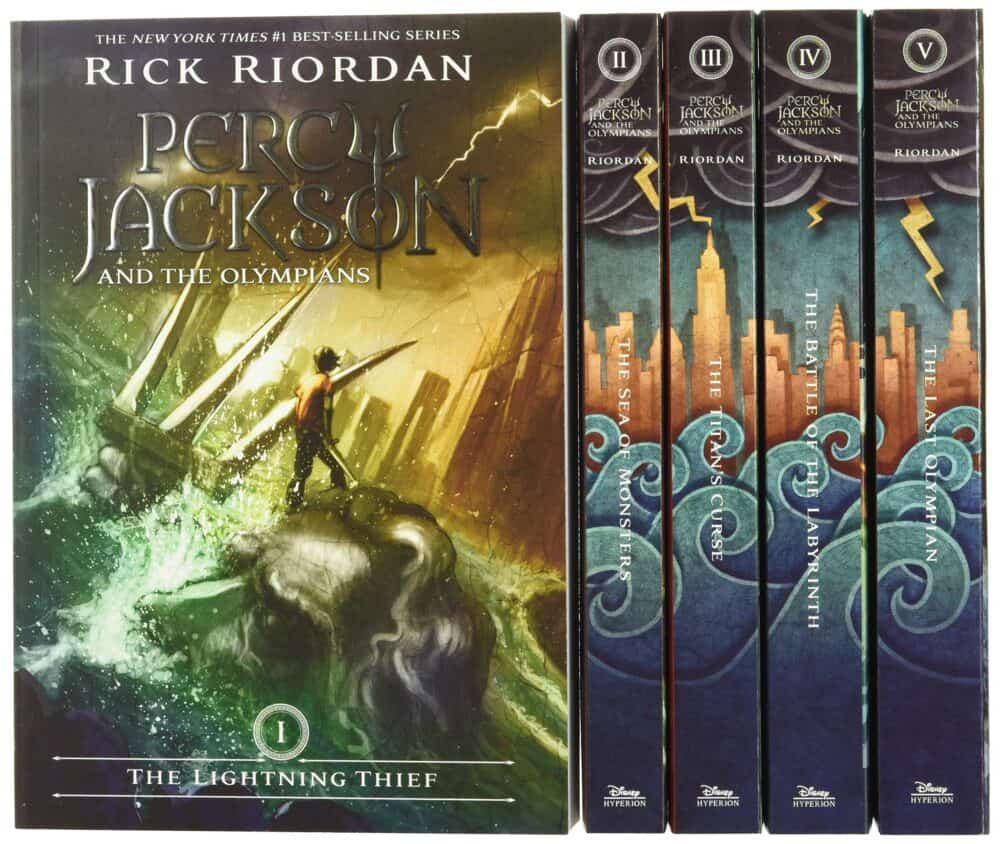 Percy Jackson and the Olympians by Rick Riordan.