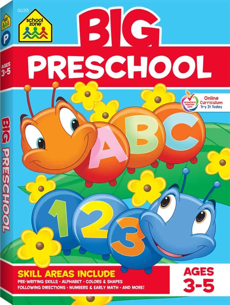 Big preschool ABC 123 learning book.