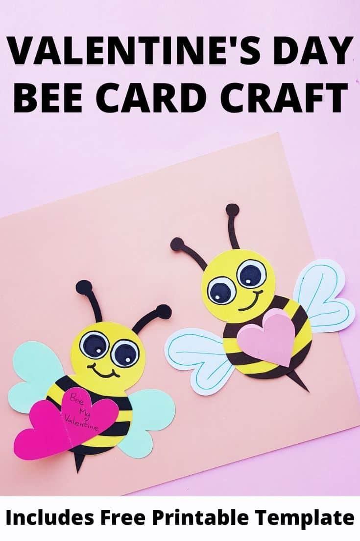 Valentine\'s Day Bee Craft for Kids