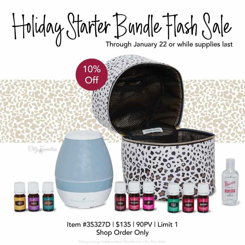 Holiday starter bundle flash sale for Young Living Starter Kit