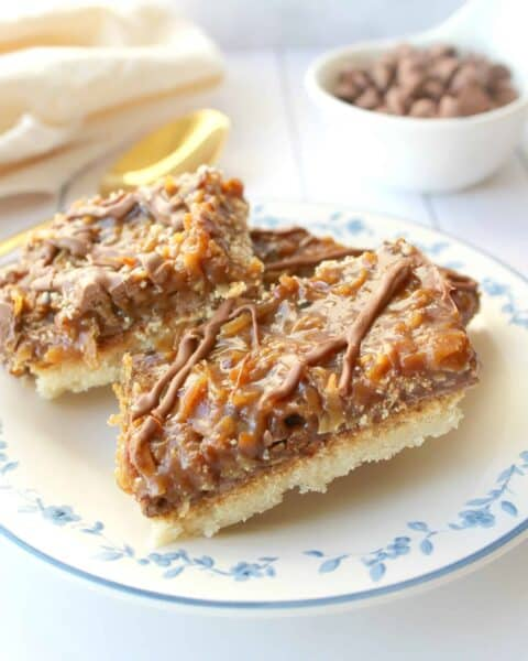 Samoas Cookie Bars Recipe - LOW CARB