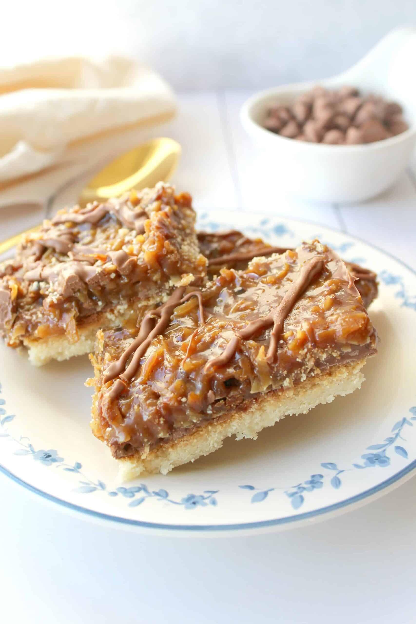 Samoas Cookie Bars Recipe - LOW CARB