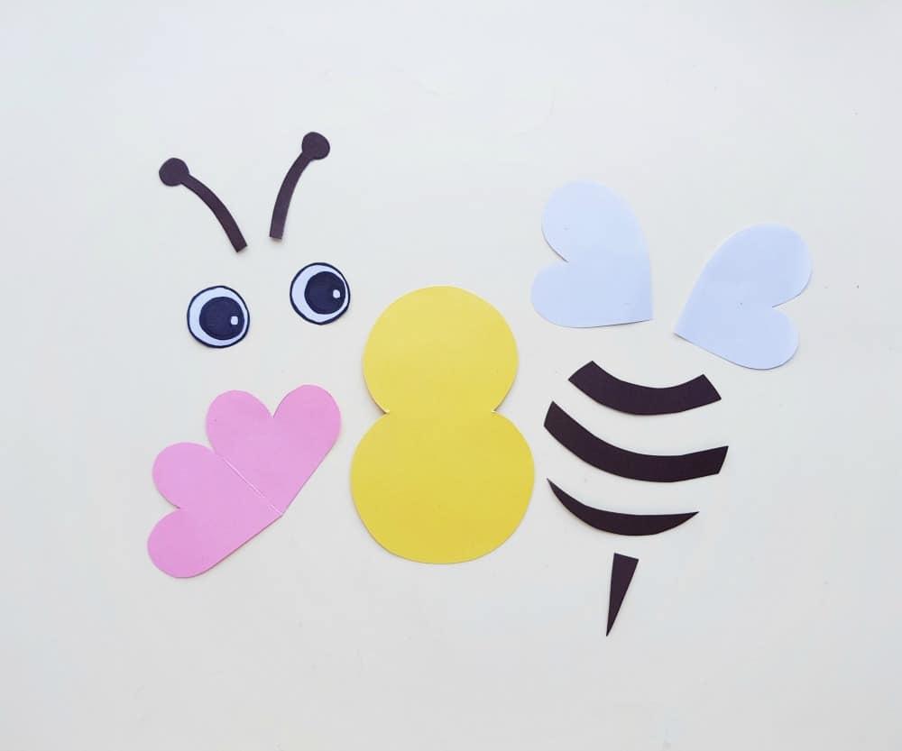 paper bee parts