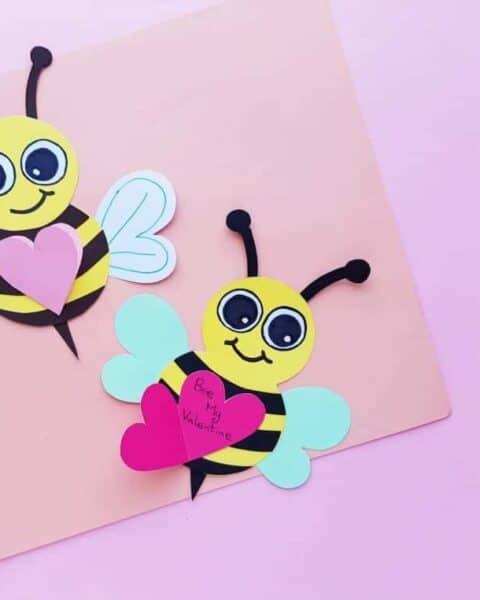 Valentine's Day Bee Craft for Kids