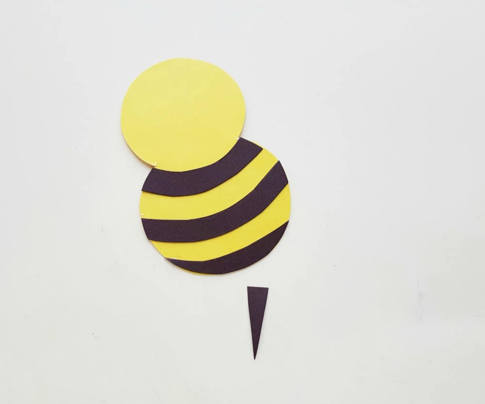 bee craft, bee body, head and stinger